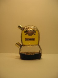 Flacon de 2 liqueurs d'or et abricotine